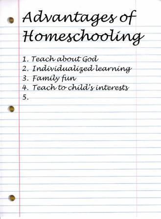 Advantage of homeschooling
