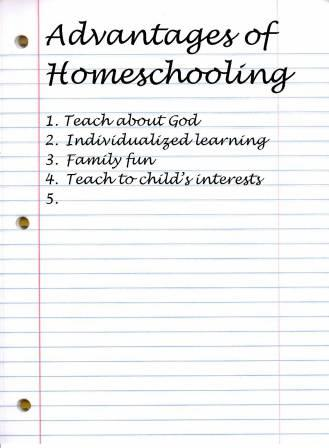 Advantage of homeschooling