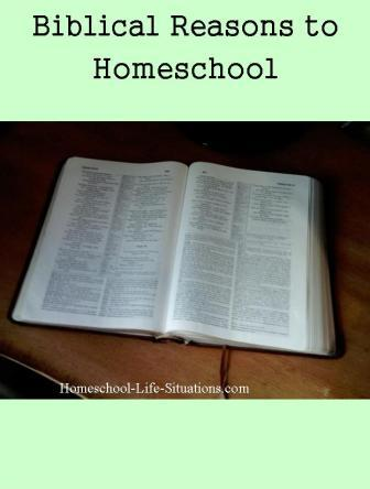 Biblical reasons to homeschool
