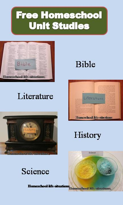 My free homeschool unit studies combine bible, literature, history, and science
