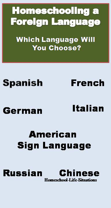 Homeschooling a foreign languae which one will you choose