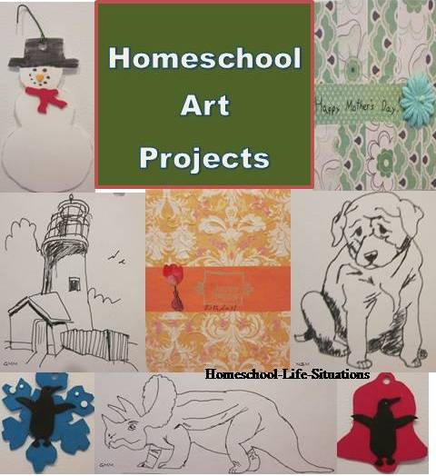homeschool art projects we have done