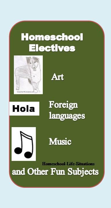 Homeschool Electives the fun subjects