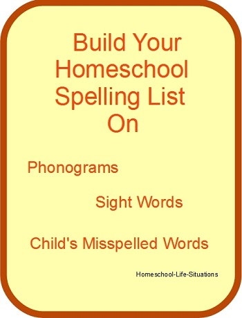 Build your spelling lists on