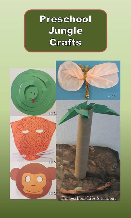 preschool jungle crafts