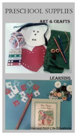 supplies for teaching preschool at home