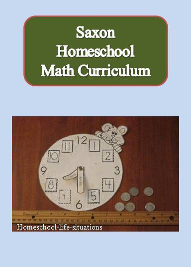 Some materials needed for saxon homeschool math